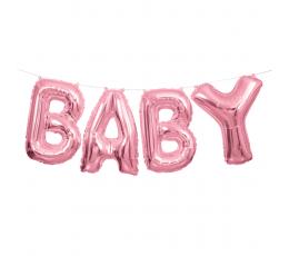 "Folija balonu komplekts ""Baby"", rozā"