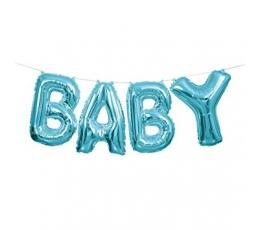 """Folija balonu komplekts """"Baby"""", zils (35 cm)"""