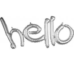 """Folija balonu komplekts """"Hello"""", sudraba"""