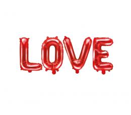 """Folija balonu komplekts """"LOVE"""", sarkans  (140x35 cm)"""
