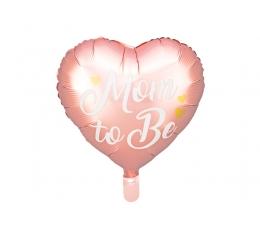"Folijas balons ""Mom to be"", rozā (35 cm)"