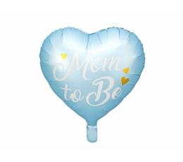 "Folijas balons ""Mom to be"", zils (35 cm)"
