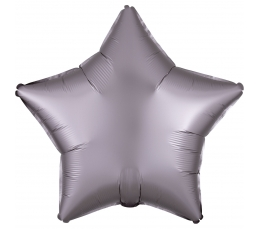 "Folijas balons ""Pelēki-rozā zvaigzne"" (48 cm)"