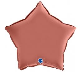 "Folijas balons ""Rozā- zelta zvaigzne"", matēta (46 cm)"