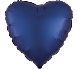 "Folijas balons ""Tumši zila sirds"" (43 cm)"