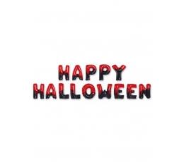 "Folijas balonu komplekts ""Happy Halloween"", sarkans melns (40 cm)"