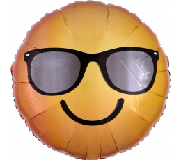 """Folijs balons """"Smaidīgais smaidiņš saulesbrillēs"""" (43 cm)"""