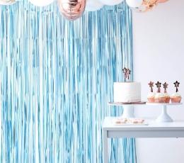 Folija aizkari, gaiši zili  (220x91 cm) 1