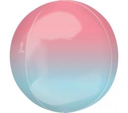 Folija balons-orbz, sārts-zils ombre (38 cm)