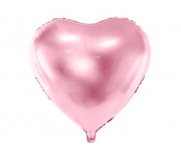 "Folija balons ""Rozā sirds"" (45 cm)"