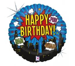 Folija balons ''Supervaroņu dzimšanas diena'' (46 cm)