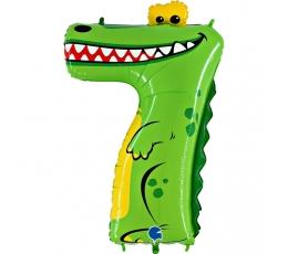 "Follija balons skaitlis ""7-krokodils"" (102 cm)"