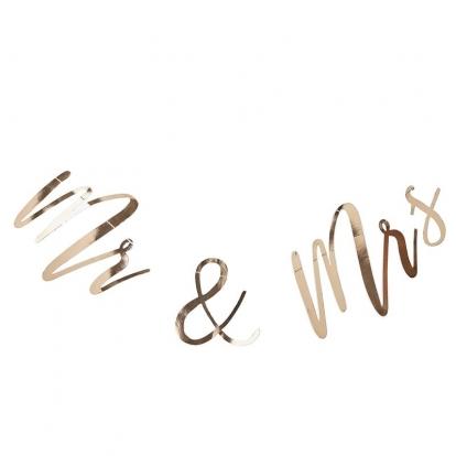 "Formīga virtene ""Mr& Mrs"", zelta (2 m)"