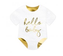 "Formīgas salvetes ""Hello Baby"" (20 gab/15,5x16 cm)"