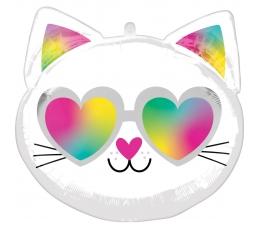 """Formīgs balons """"Stilīgais kaķis"""" (43 x 43 cm)"""