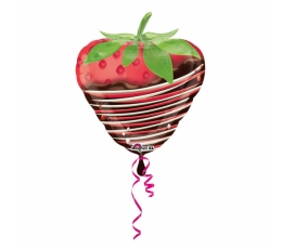 "Formīgs balons ""Zemene šokolādē"" (45x48cm)"