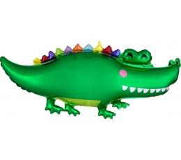 "Formīgs folija balons ""Krokodils"" (106 x 48 cm)"
