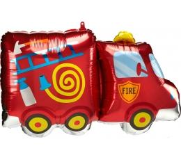 """Formīgs folija balons """"Ugunsdzēsēju mašīna"""" (76 x 45 cm)"""