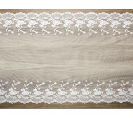 """Galda celiņš """"Baltas mežģīnes"""" (45x900 cm)"""