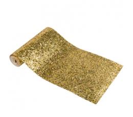 Galda celiņš, spīdīgs - zelta (15 cm x 1,4 m)