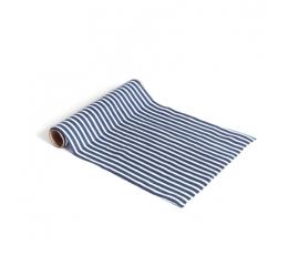 Galda celiņš, zils - balts, strīpains (28 cmx5 m)
