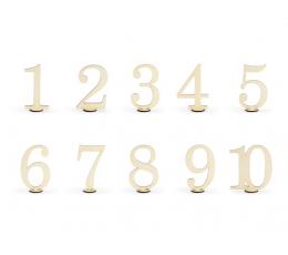 Galda numurzīmes-koka  (10 gab/10,5 cm)