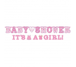 "Virtene ""Baby Shower/It's a girl"", rozā (2 gab)"