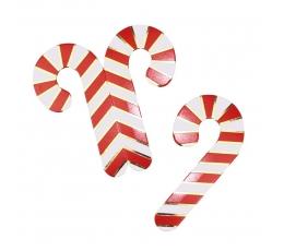 """Glāzīšu dekorācijas """"Ziemassvētku nūjiņas"""" (10 gab)"""