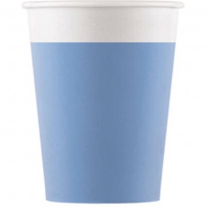 Glāzītes, gaiši zilas (8 gab/ 200 ml) kompostējamas