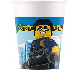 "Glāzītes ""Lego City"" (8 gab./200 ml.)"