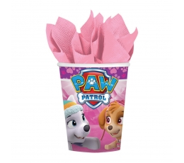 "Glāzītes ""Paw Patrol"", rozā (8 gab/ 266 ml)"