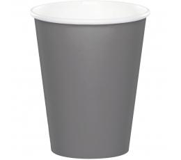 Glāzītes, pelēkas-matētas (24 gab/266 ml)