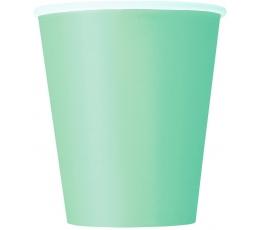 Glāzītes, piparmētru krāsā (8 gab/ 270 ml)