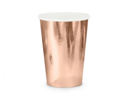 Glāzītes, rozā zelta krāsā (6 gab/ 220 ml)