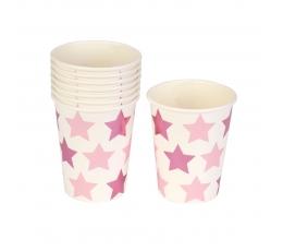 "Glāzītes ""Rozā zvaigznītes"" (8 gab/ 250 ml)"