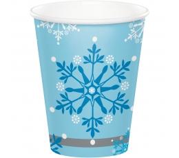 """Glāzītes """"Sniegpārslu putenis"""" (8 gab/266 ml)"""