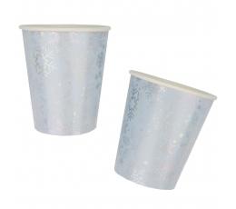 """Glāzītes """"Spīdīgas sniegpārsliņas"""" (8 gab./266 ml)"""