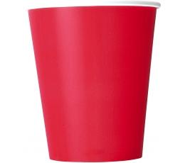 Glāzītes, spilgti sarkanas (8 gab/266 ml)