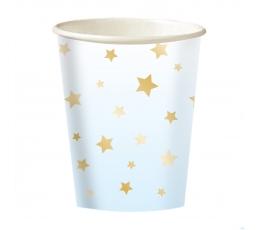 """Glāzītes """"Zelta zvaigznītes"""", zilas (8 gab./250 ml)"""