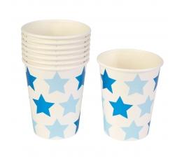 """Glāzītes """"Zilas zvaigznītes"""" (8 gab/ 250 ml)"""