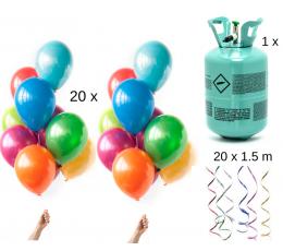 """Hēlija balonu komplekts """"DARI PATS"""", krāsains (20 gab)"""