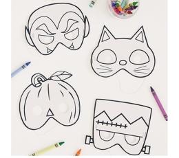 """Helovīna masku komplekts """"Izkrāso pats"""" (8 gab.)"""