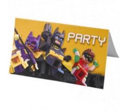 """Ielūgumi """"Lego Batman"""" (8 gab.)"""