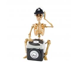 """Interaktīva dekorācija """"Skelets DJ"""" (25x13 cm)"""