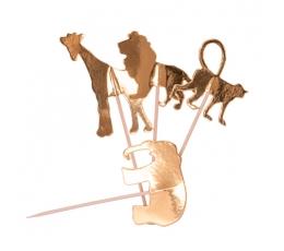 """Irbulīši-dekorācijas """"Džungļu iemītnieki"""" (20 gab/12 cm)"""