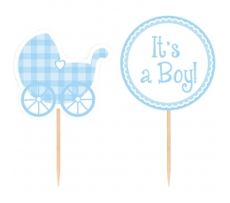 """Irbulīšī -dekorācijas """"It's a Boy"""" (12 vnt.)"""
