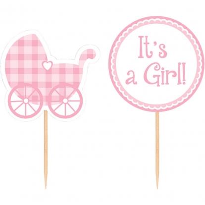 "Irbulīši-dekorācijas ""It's A Girl"" (12 gab)"