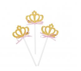 """Irbulīši dekorācijas """"Kronīši"""" (8 gab/ 10 cm)"""