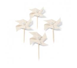 """Irbulīši-dekorācijas, lina """"Vējdzirnavas"""" (4 gab/4 cm)"""