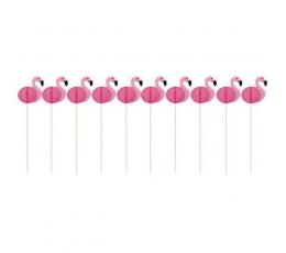 """Irbulīši dekorācijas """"Rozā flamingo"""" (10 gab)"""